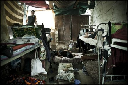 Delapidated and overcrowded prison cell in Chui Oblast, Kyrgyzstan