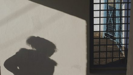 Shadow of a women prison in Kyrgyzstan