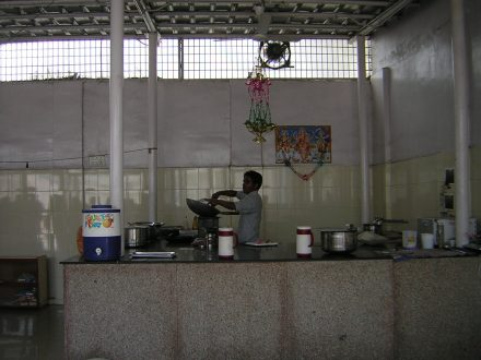 The kitchens at the Sahyog De-addiction Centre for children in Delhi