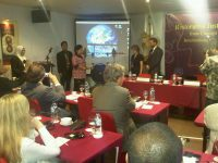 Conference session on restorative justice