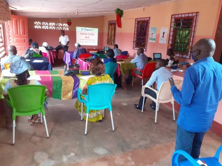 Training to prevent spread of COVID-19 in prisons in Central African Republic, Bangui, June 2020